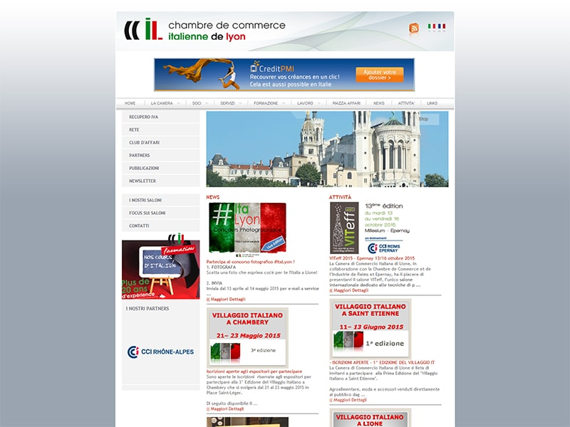 Net informatica for Chambre de commerce franco italienne