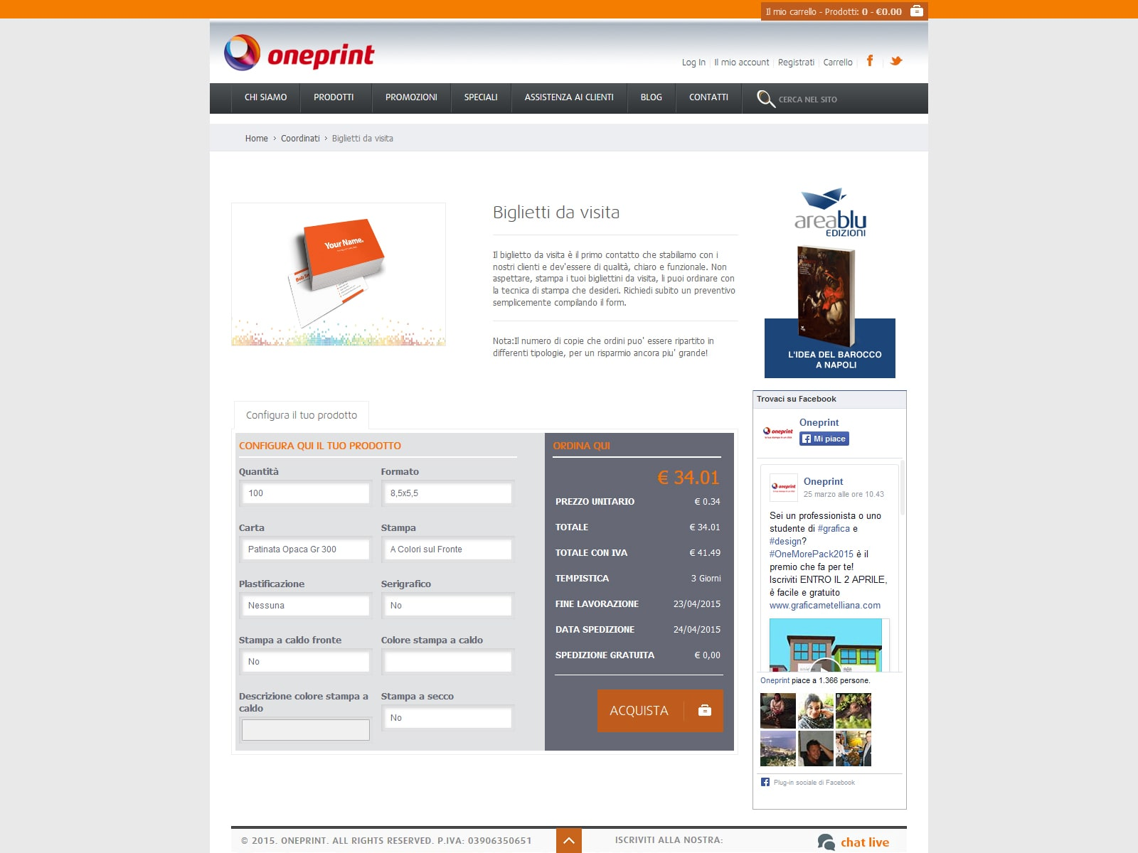 Oneprint - Service di Stampa Online Tipografica